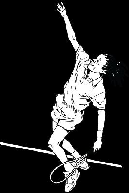 Girl Serving Tennis Ball | Clipart
