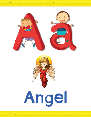 Alphabet Worksheets - A for Angel | Clipart