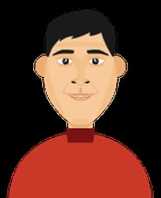 Men's Hair - Full Head of Hair 1 | Clipart