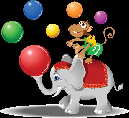 Elephant and Monkey | Clipart