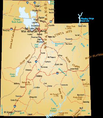 Map of Utah | Clipart