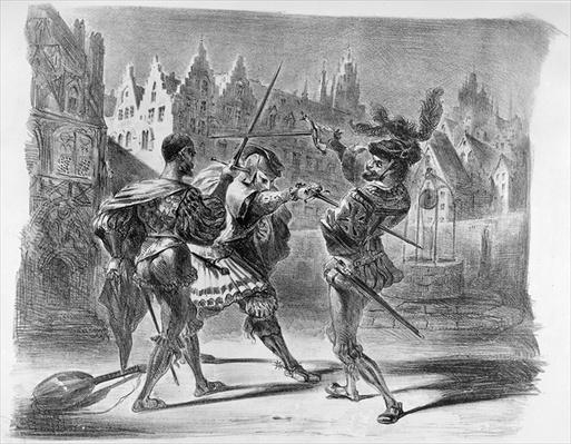 Duel between Faust and Valentine, from Goethe's Faust, after 1828,