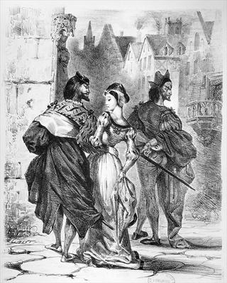 Faust meeting Marguerite, from Goethe's Faust, after 1828,