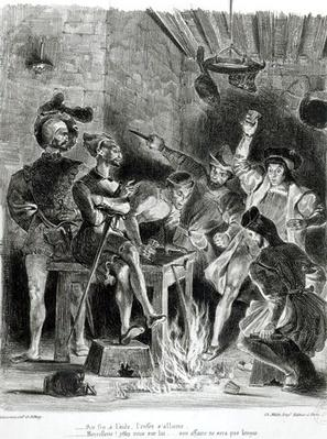 Mephistopheles and the Drinking Companions, from Goethe's Faust, 1828,
