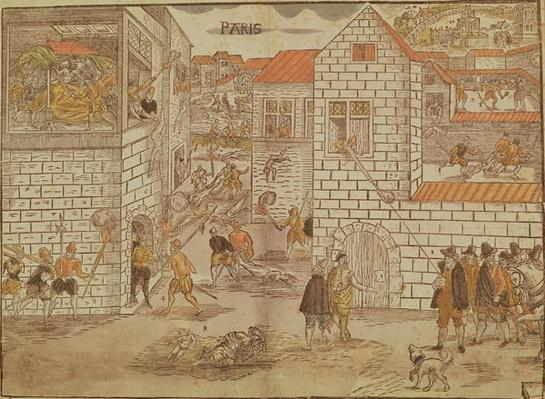 The St. Bartholomew's Day Massacre, 1572, German, 16th century