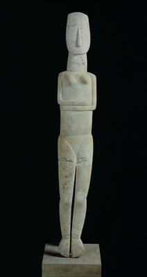 Female figure, from Amorgos, Early Cycladic II Period