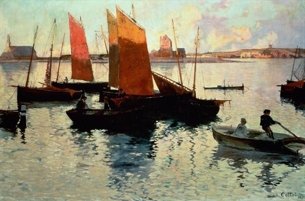 Evening Light at the Port of Camaret, 1892