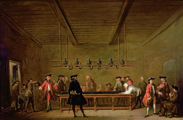 A Game of Billiards, c.1720-26