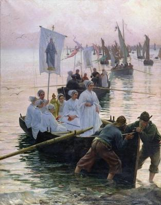 The Arrival of the Procession of St. Anne from Fouesnant to Concarneau, 1887