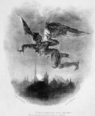 Mephistopheles' Prologue in the Sky, from Goethe's Faust, 1828,