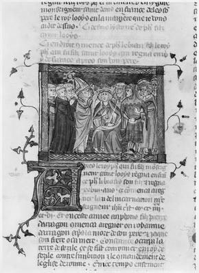 Philip IV, illustration from 'Grandes Chroniques de France', 1375-79