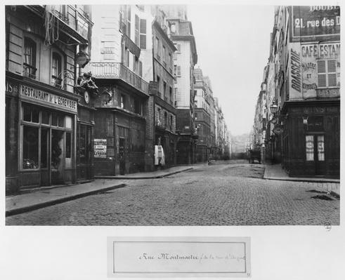 Paris, Rue Montmartre, seen from Rue d'Argout, 1858-78
