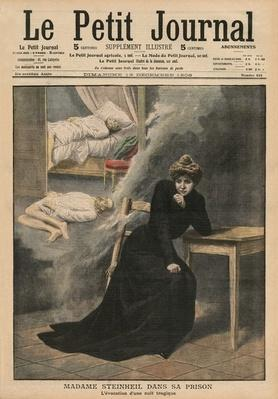 Marguerite Steinheil in prison, front cover illustration from 'Le Petit Journal', supplement illustre, 13th December 1908
