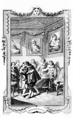 Illustration to 'Roderick Random' by Tobias Smollett, engraved by James Heath, 1780