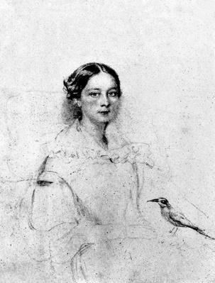 Emily Shore, after a portrait of c.1838