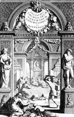 Frontispiece to 'Thesaurus imaginum piscium testaceorum' by Georg Eberhard Rumphius, edition published in 1739
