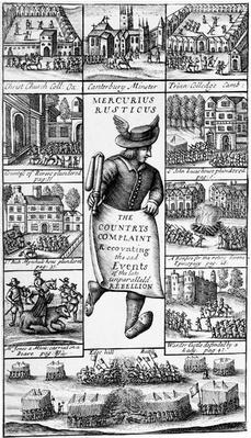 Frontispiece to 'Mercurius Rusticus: The Country's Complaint Recounting the Sad Events of the late Unparalleld Rebellion', published in 1685