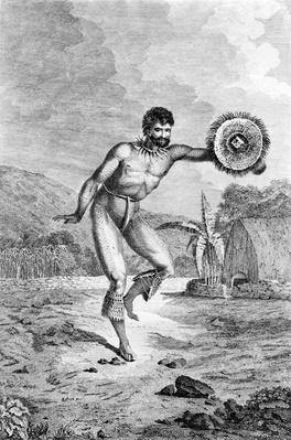 A Man of the Sandwich Islands Dancing, engraved by Myers, c.1785