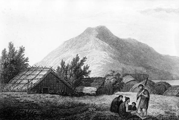 The Inside of a Hippah in New Zealand, illustration from 'Voyage to the Pacific', engraved by Benjamin Pouncy, 1784