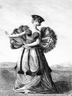 Habit of a Young Woman of Otaheite Dancing, c.1785