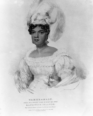 Tamehamalu, Her Majesty the Queen of the Sandwich Islands, 1824