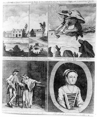 'A True Draught of Eliz Canning', a satirical print on the story of Elizabeth Canning, 1753