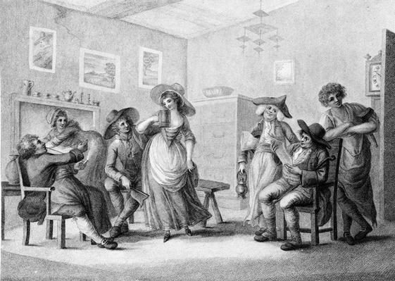 The Village Ale-House, engraved by Joseph Grozer, 1787