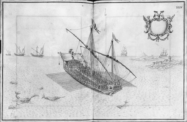 Building, equipping and launching of a galley, plate XXIV