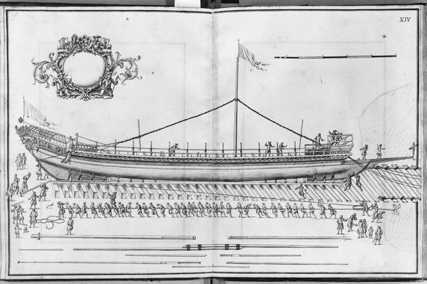 Building, equipping and launching of a galley, plate XIV