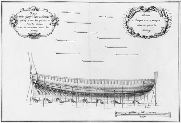 Profile of a vessel, illustration from the 'Atlas de Colbert', plate 12