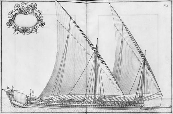Building, equipping and launching of a galley, plate XIX