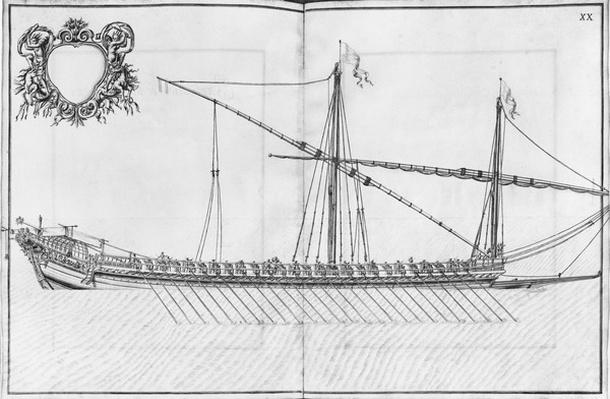 Building, equipping and launching of a galley, plate XX