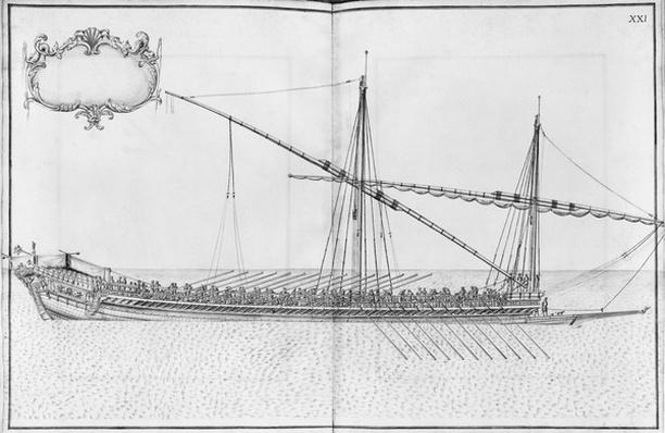 Building, equipping and launching of a galley, plate XXI
