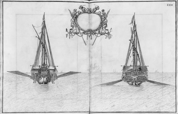 Building, equipping and launching of a galley, plate XXIII