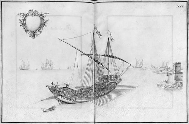 Building, equipping and launching of a galley, plate XXV