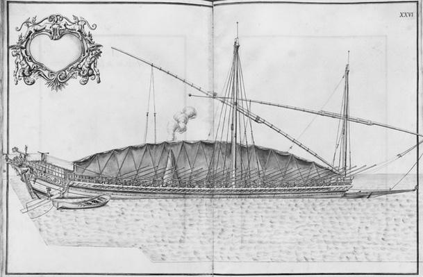 Building, equipping and launching of a galley, plate XXVI