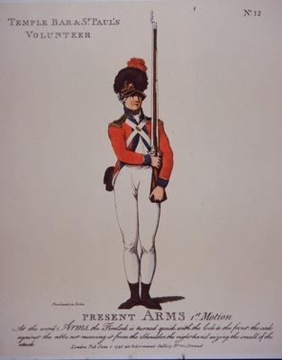 Temple Bar & St Paul's Volunteer, Present Arms, 1798
