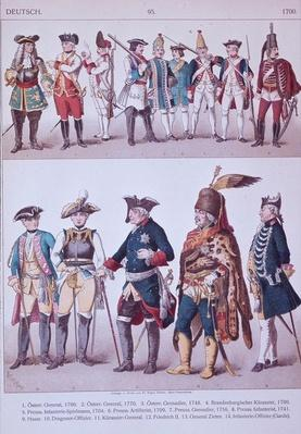 Prussian Grenadiers of the time of Frederick the Great