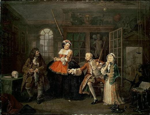 Marriage a la Mode: III - The Inspection, c.1743