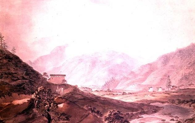 Mountain Scene near Thimphu, Bhutan, 1783,
