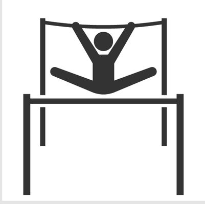 Athletics and Gymnastics Icon Set - Uneven Bars | Clipart