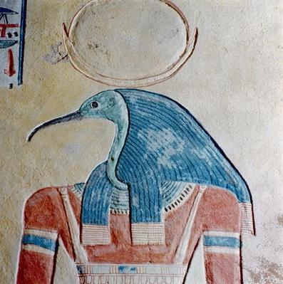The god Thoth, from the Tomb of Prince Khaemwaset II, son of Ramesses III