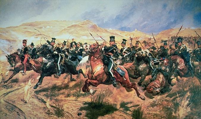 Charge of the Light Brigade, Balaclava, 25 October in 1854