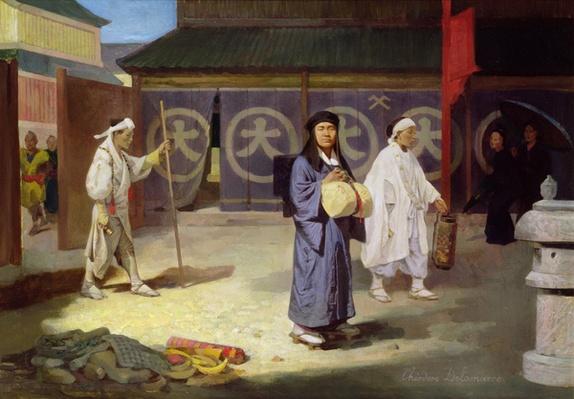 Japanese Pilgrim returning from Mount Fusi Yama