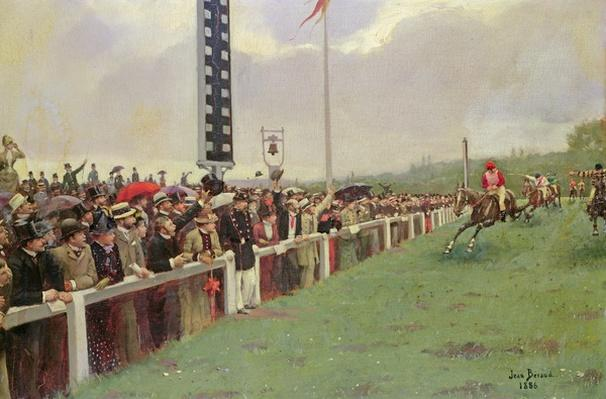 The Course at Longchamps, 1886
