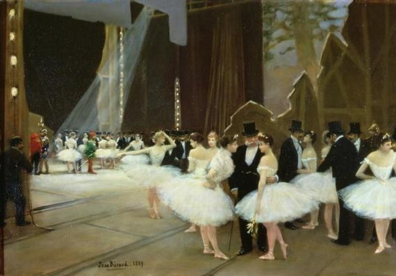 In the Wings at the Opera House, 1889
