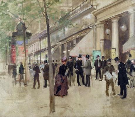 The Boulevard Montmartre and the Theatre des Varietes, c.1886