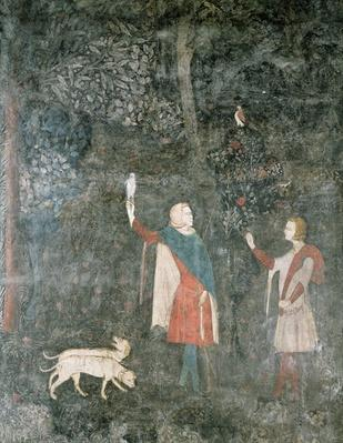 A Gentleman Hawking, from the Stag Room, 1343