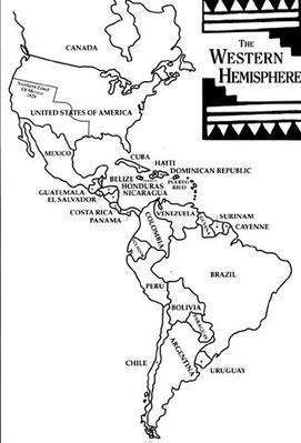 Hispanic Culture in Utah: Hecho en Utah (Made in Utah): Map of the Western Hemisphere