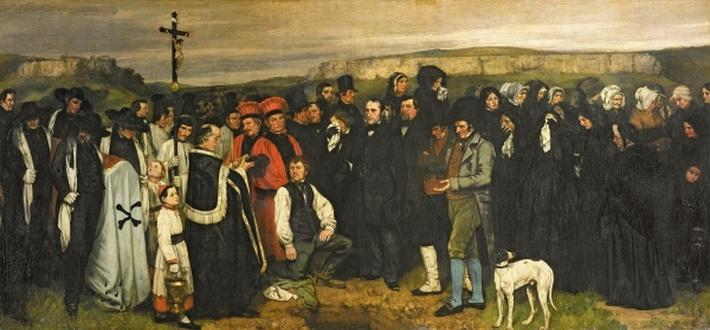 Burial at Ornans, 1849-50